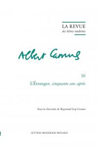 La Revue des lettres modernes, série Albert Camus, n° 16 :
