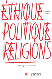Éthique, politique, religions 2018 – 1, n° 12 :