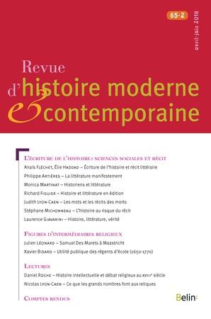 Revue d'histoire moderne et contemporaine, 2018-2: