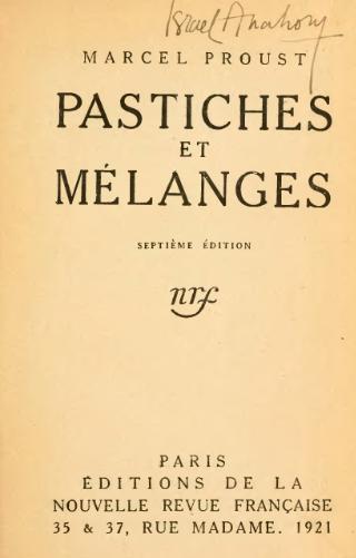 Mieux que Proust