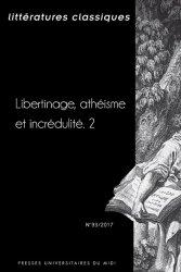 Littératures classiques, n° 93 :
