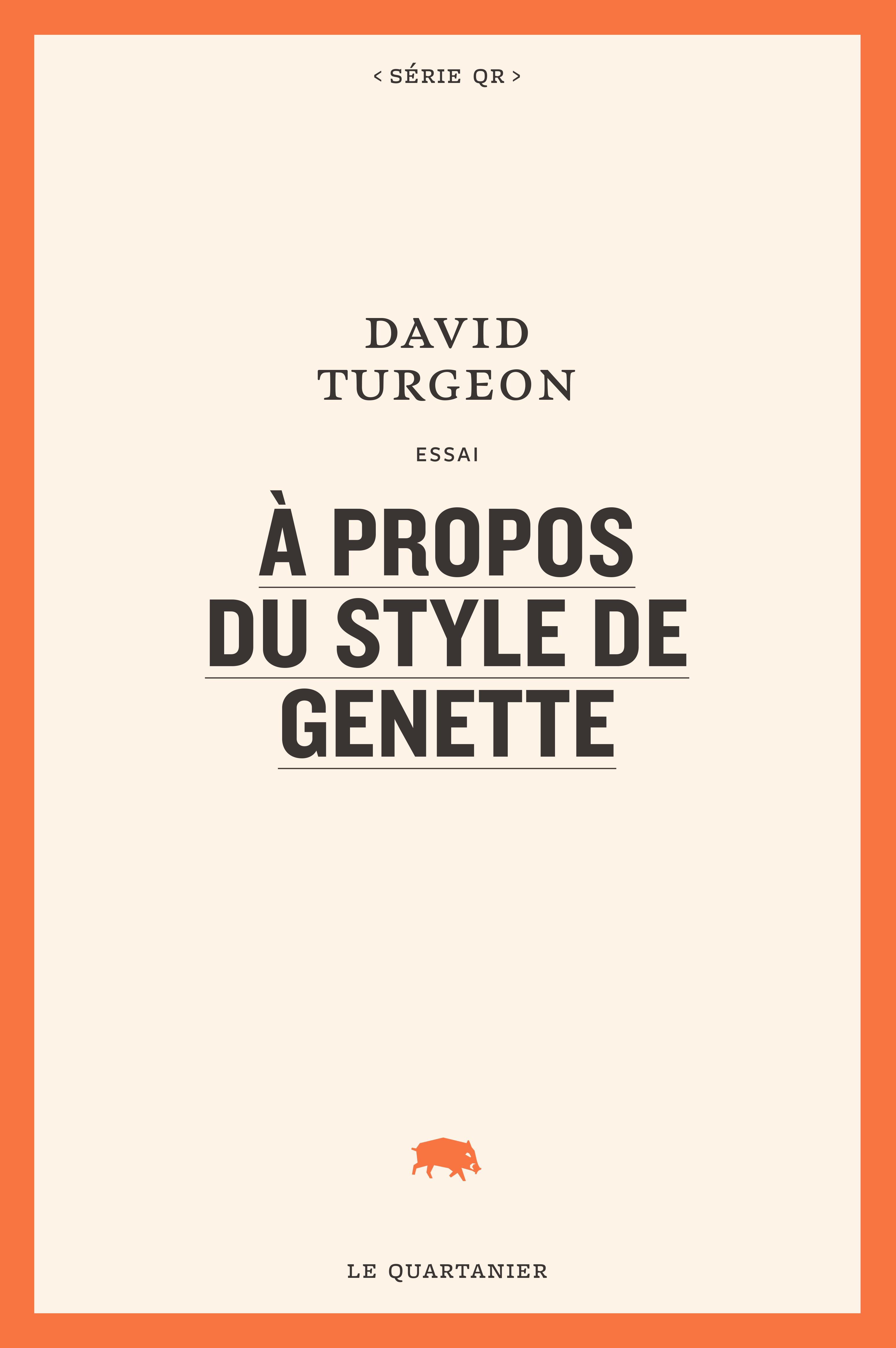 D. Turgeon, À propos du style de Genette