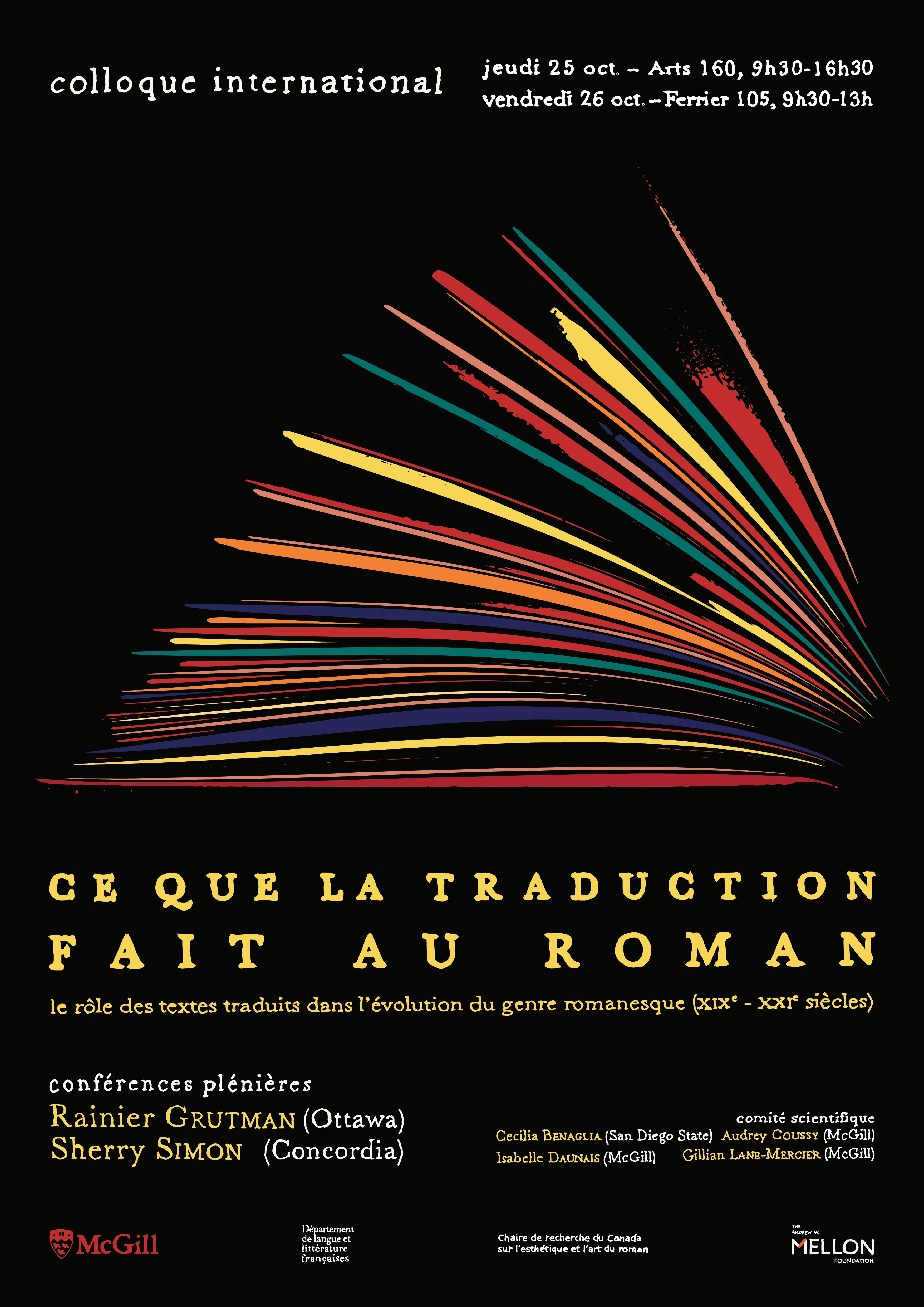 Ce que la traduction fait au roman : le rôle des textes traduits dans l'évolution du genre romanesque francophone (Montréal)