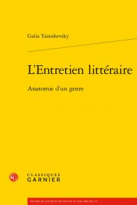 G. Yanoshevsky, L'Entretien littéraire. Anatomie d'un genre
