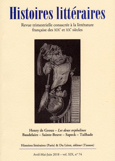 Histoires littéraires, n° 74