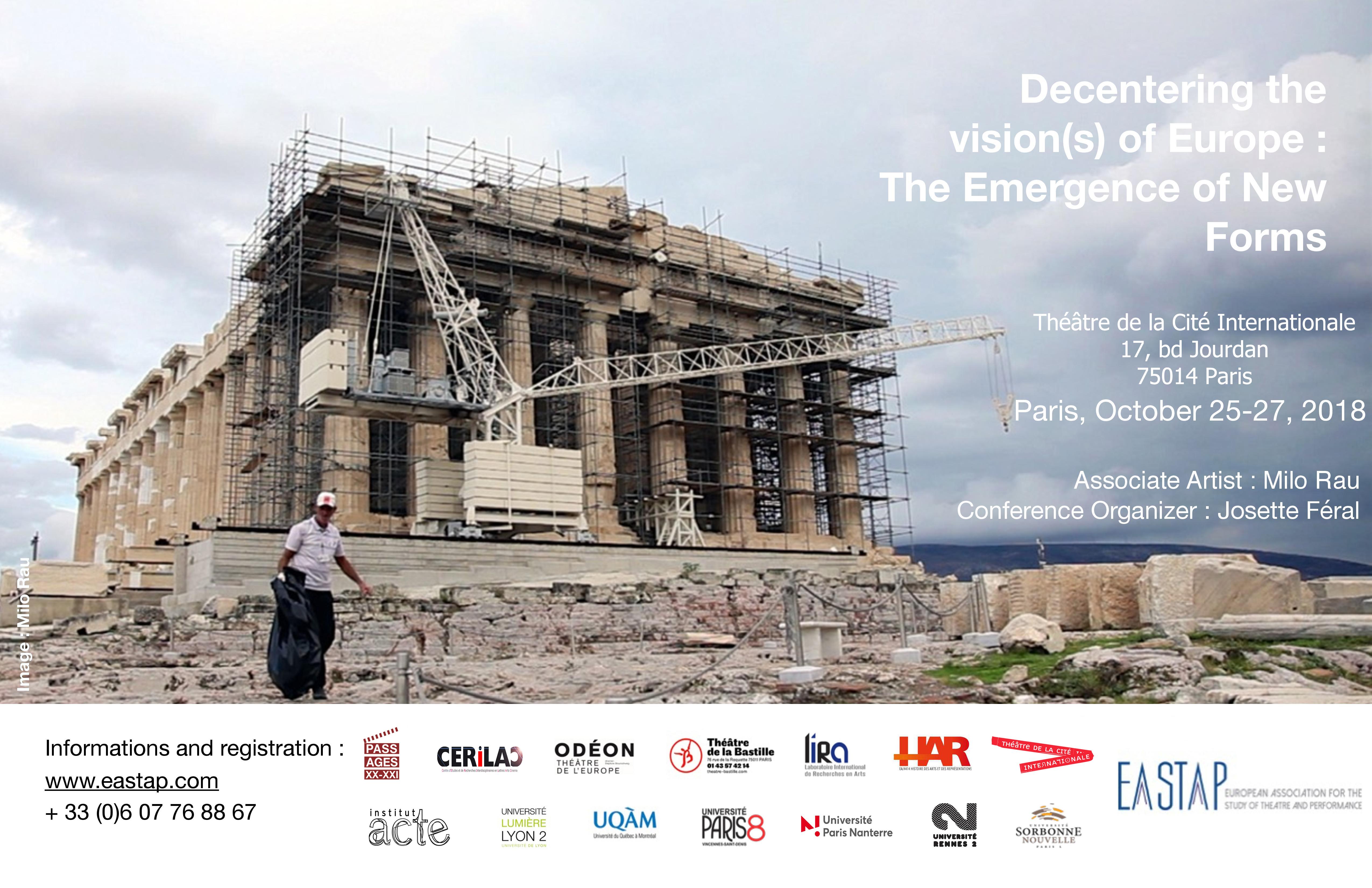 Premier Congrès de l'European Association for the Study of Theatre and Performance (Cité internationale, Paris)