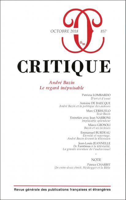 Critique, n° 857 :