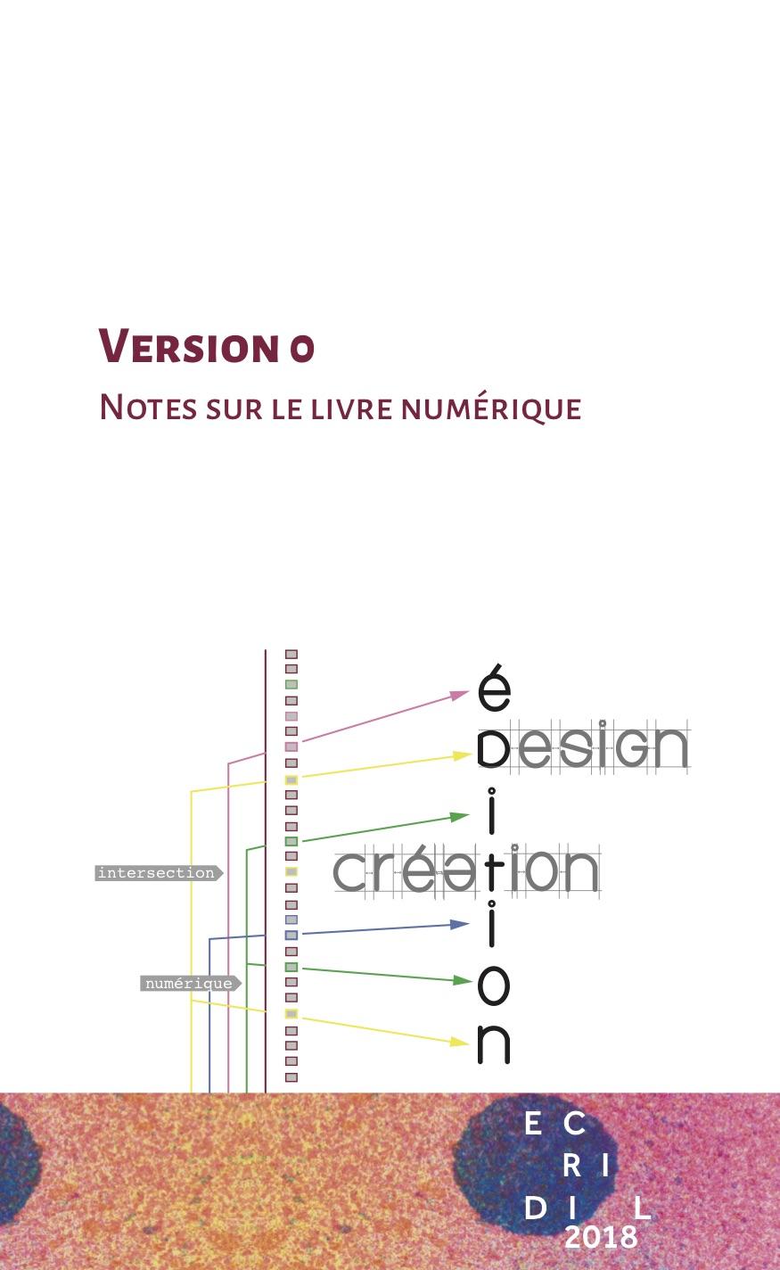 Version 0. Notes sur le livre numérique