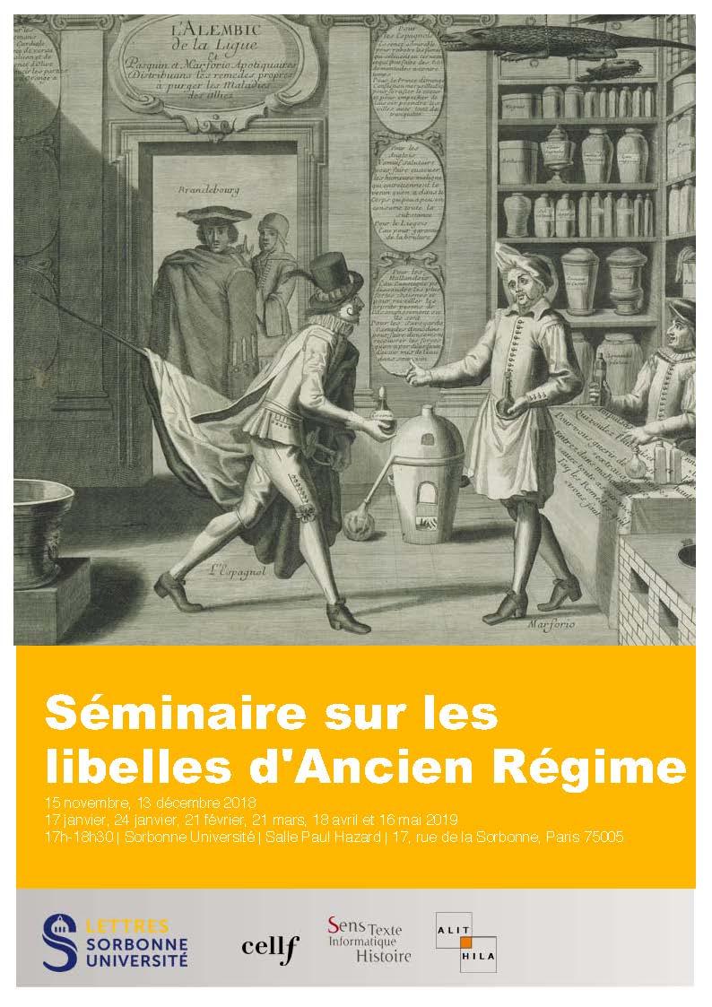 Séminaire de recherche sur les libelles d'Ancien Régime (Paris Sorbonne)