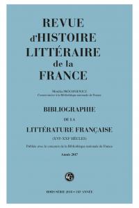Bibliographie de la littérature française. 2018, Année 2017