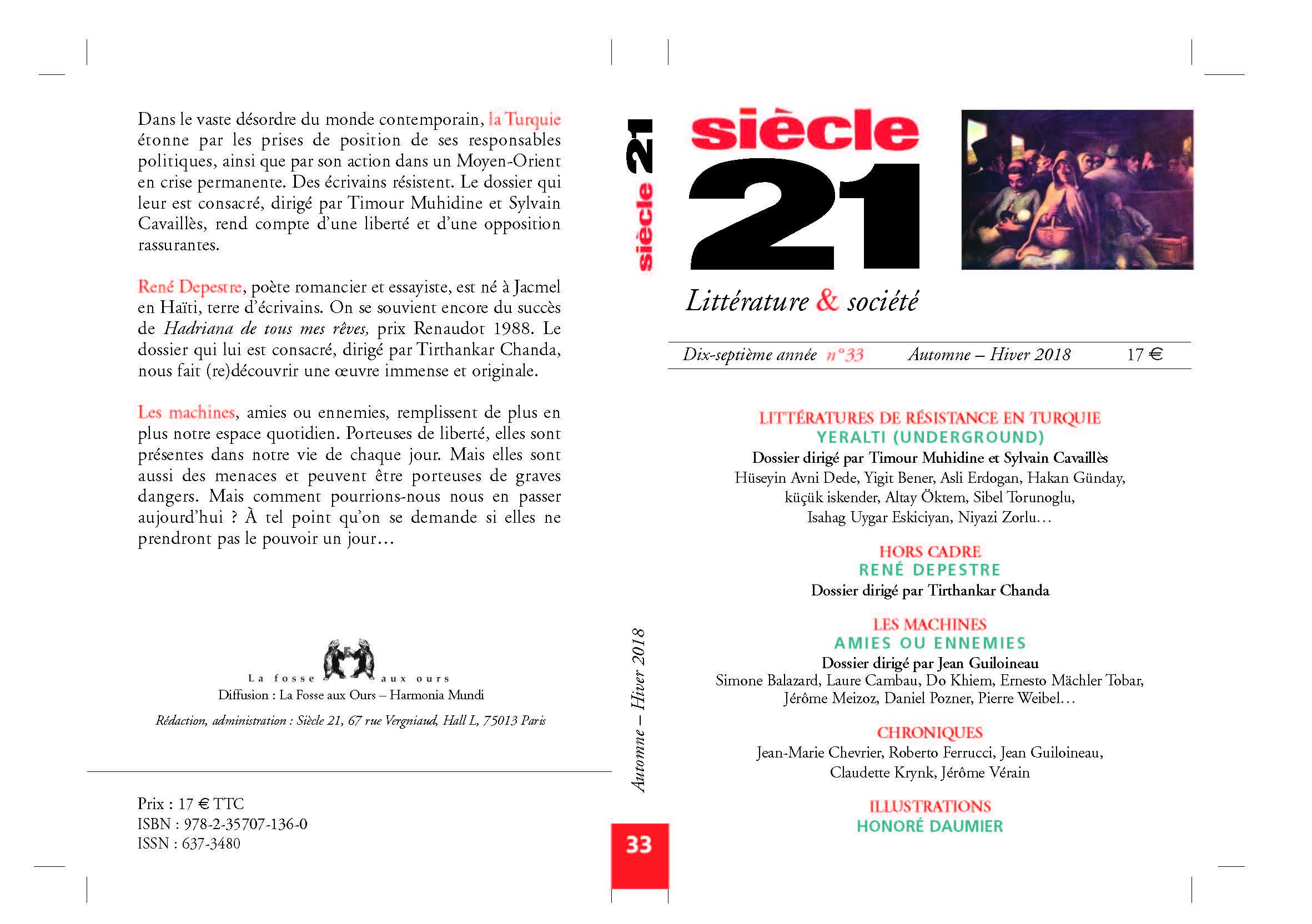Siècle 21, Littérature et Société, n° 31: