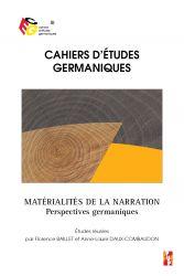 F. Baillet, A-L. Daux-Combaudon (dir.), Matérialités de la narration. Perspectives germaniques.