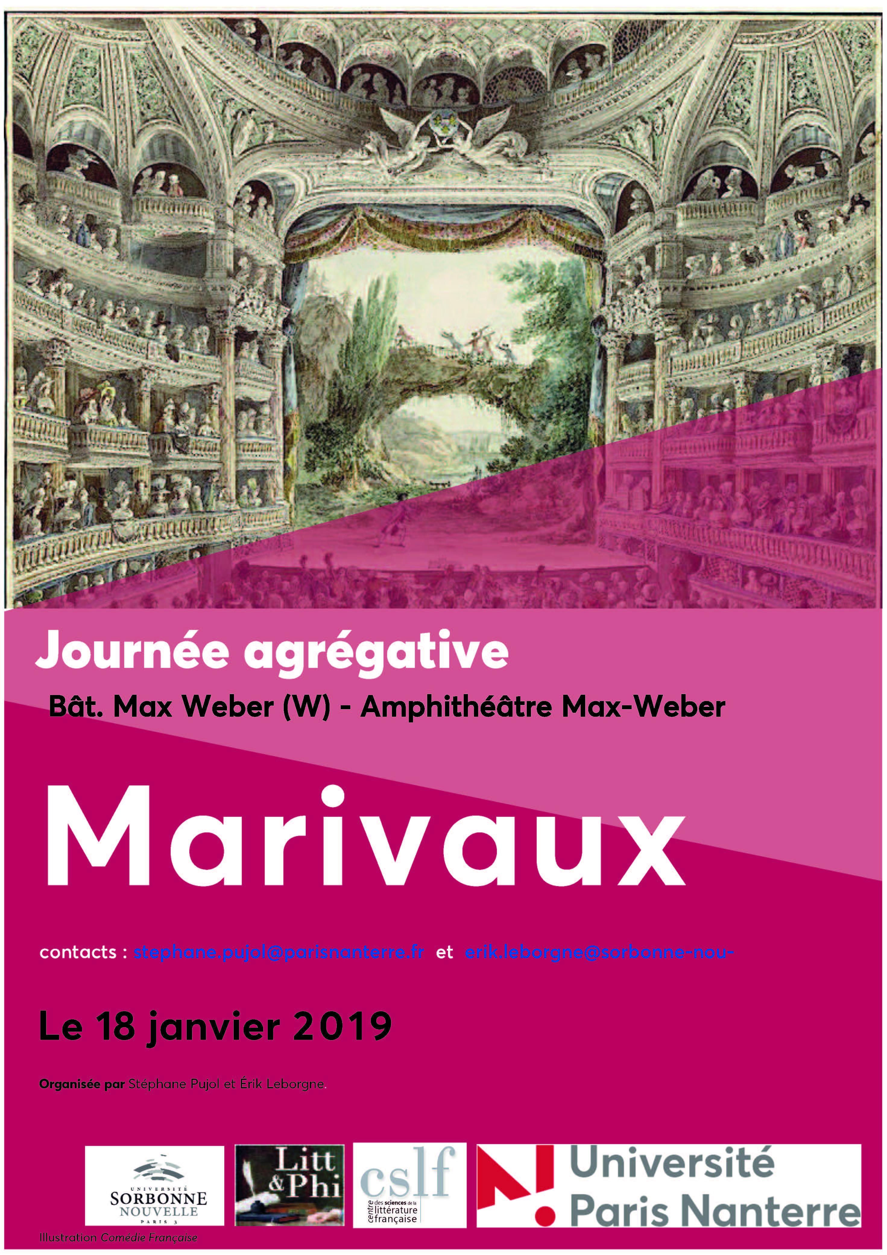 Journée agrégative sur Marivaux (Paris-Nanterre)