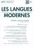Les Langues Modernes, n° 4/2018