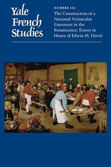 Yale French Studies n°134 :