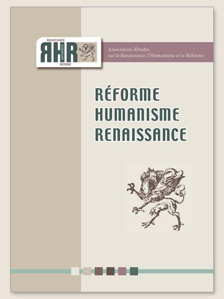 Réforme, Humanisme, Renaissance, n° 87, décembre 2018