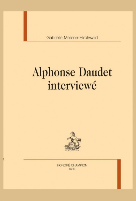 G. Melison-Hirchwald, Alphonse Daudet interviewé