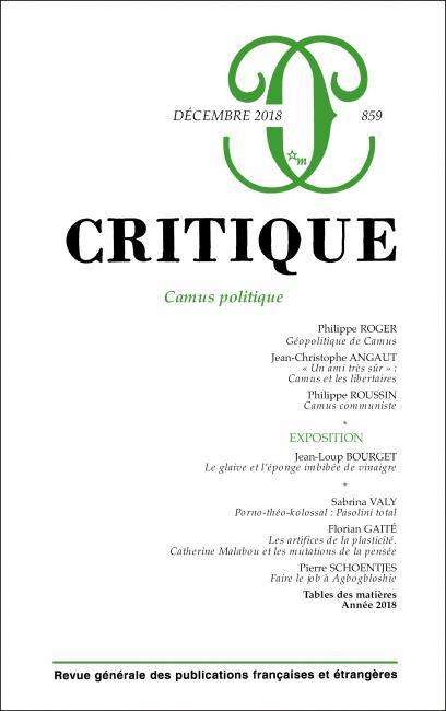 Critique, n° 859: