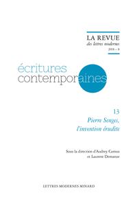 A. Camus et L. Demanze (dir.), Pierre Senges, l'invention érudite