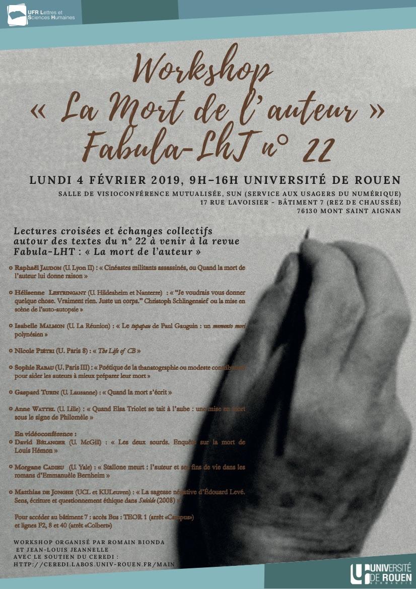 La Mort de l'auteur (Rouen)