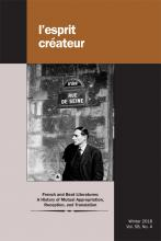 L'Esprit Créateur, 58, 4 : French and Beat Literatures: A History of Mutual Appropriation, Reception, and Translation
