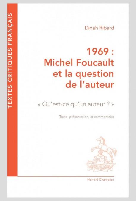 D. Ribard, 1969. Michel Foucault et la question de l'auteur