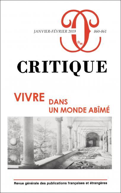 Critique, n° 860-861:
