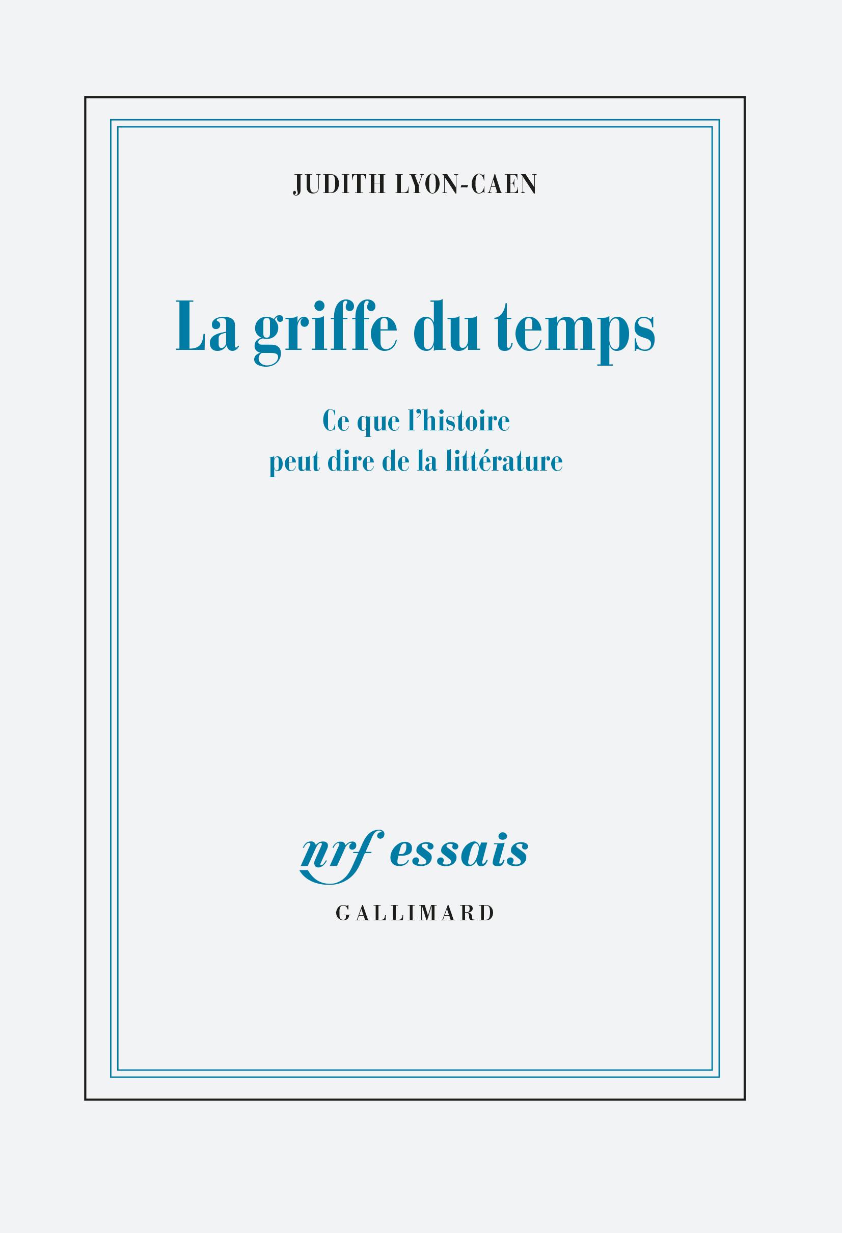 Ce que l'histoire peut dire de la littérature: autour du livre de Judith Lyon-Caen La Griffe du temps (Reid Hall, Paris)