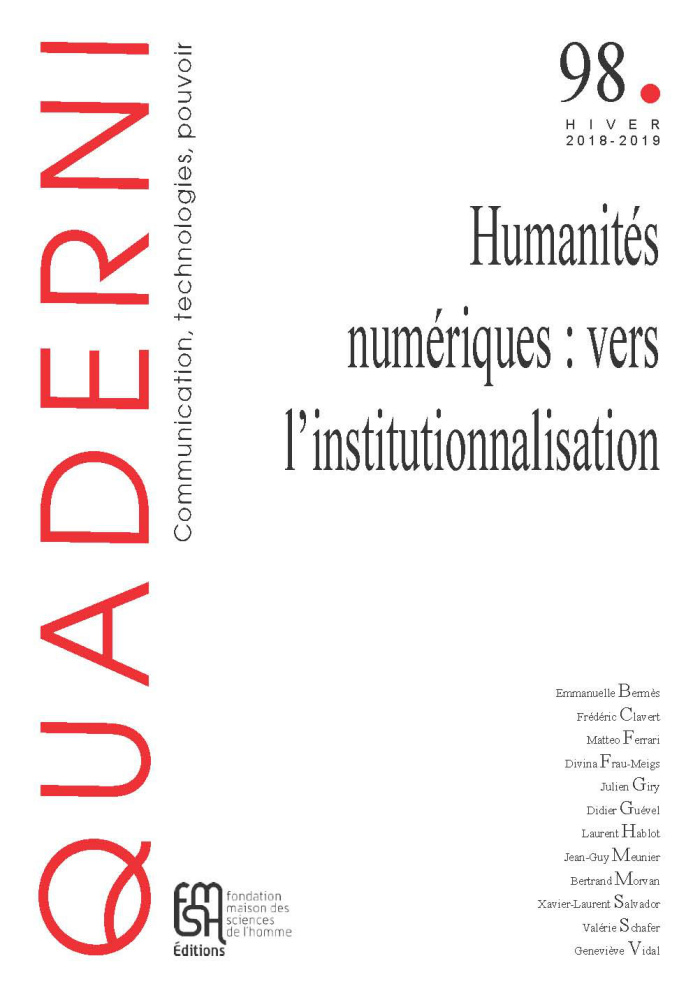 Quaderni, n° 98 :