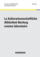 Revue Germanique Internationale, n° 28 :