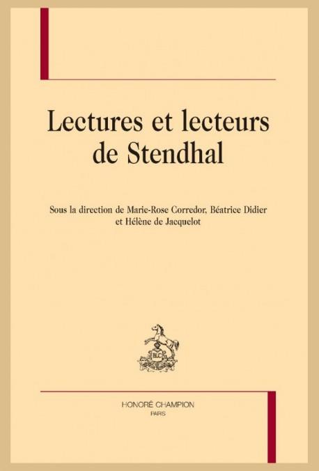 M.-R. Corredor, B. Didier, H. de Jacquelot (dir.), Lectures et lecteurs de Stendhal