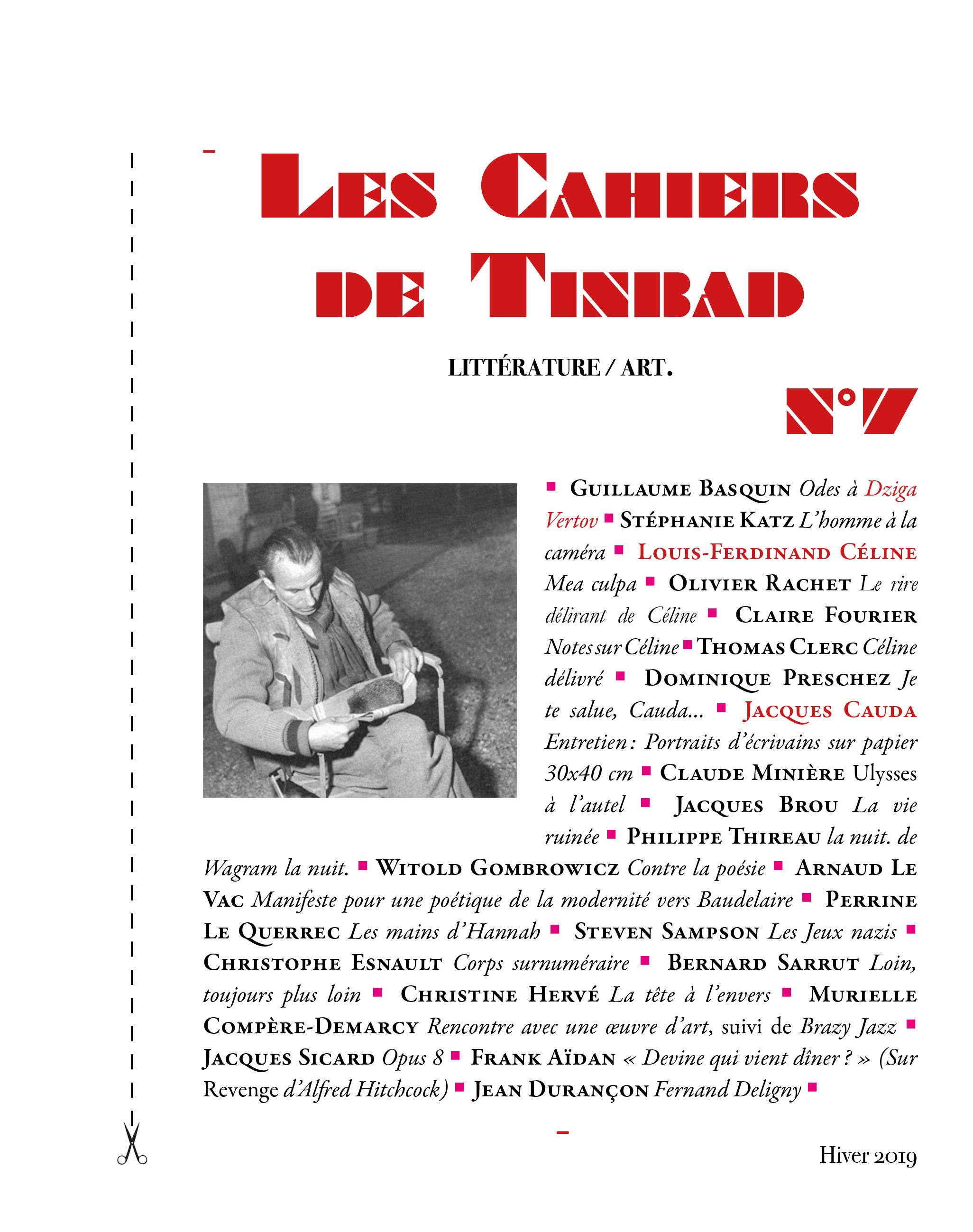 Les Cahiers de Tinbad, n° 7