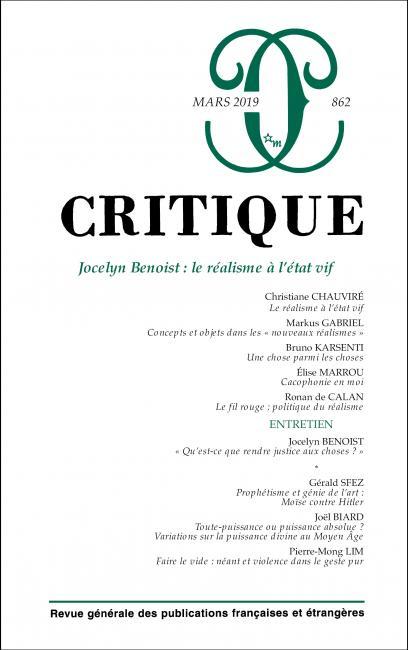 Critique, n° 862 :