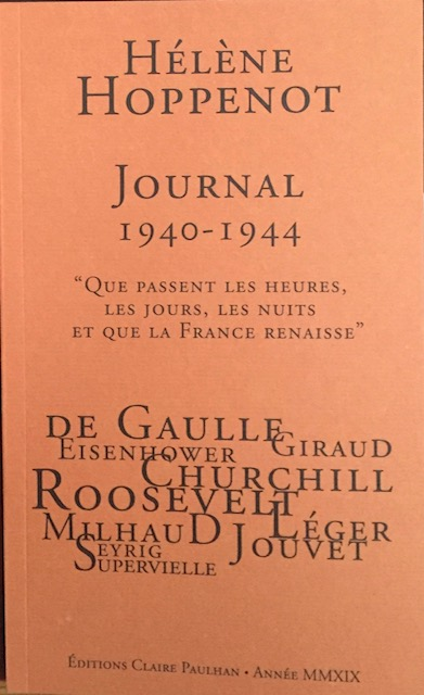 H. Hoppenot, Journal 1940-1944