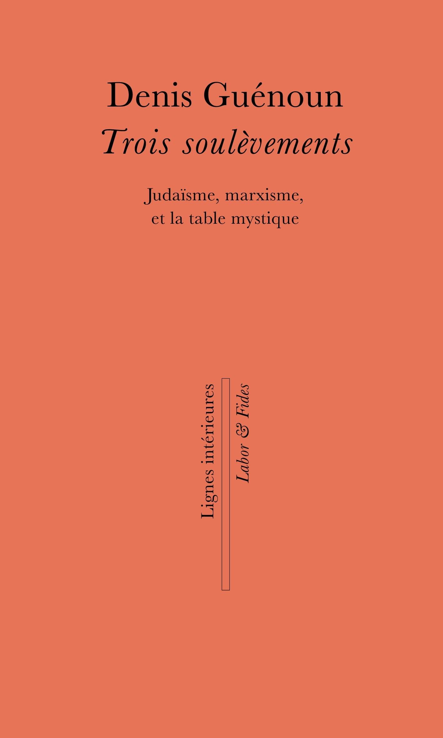 Rencontre avec D. Guénoun à l'occasion de la parution de Trois soulèvements (Genève)