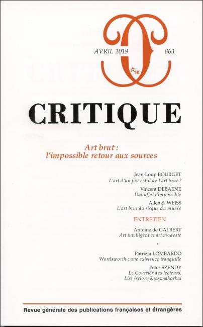 Critique, n° 863 :