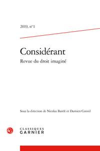Considérant. Revue du droit imaginé 2019, n° 1