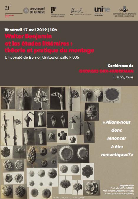 Walter Benjamin et les études littéraires : théorie et pratique du montage (Berne)