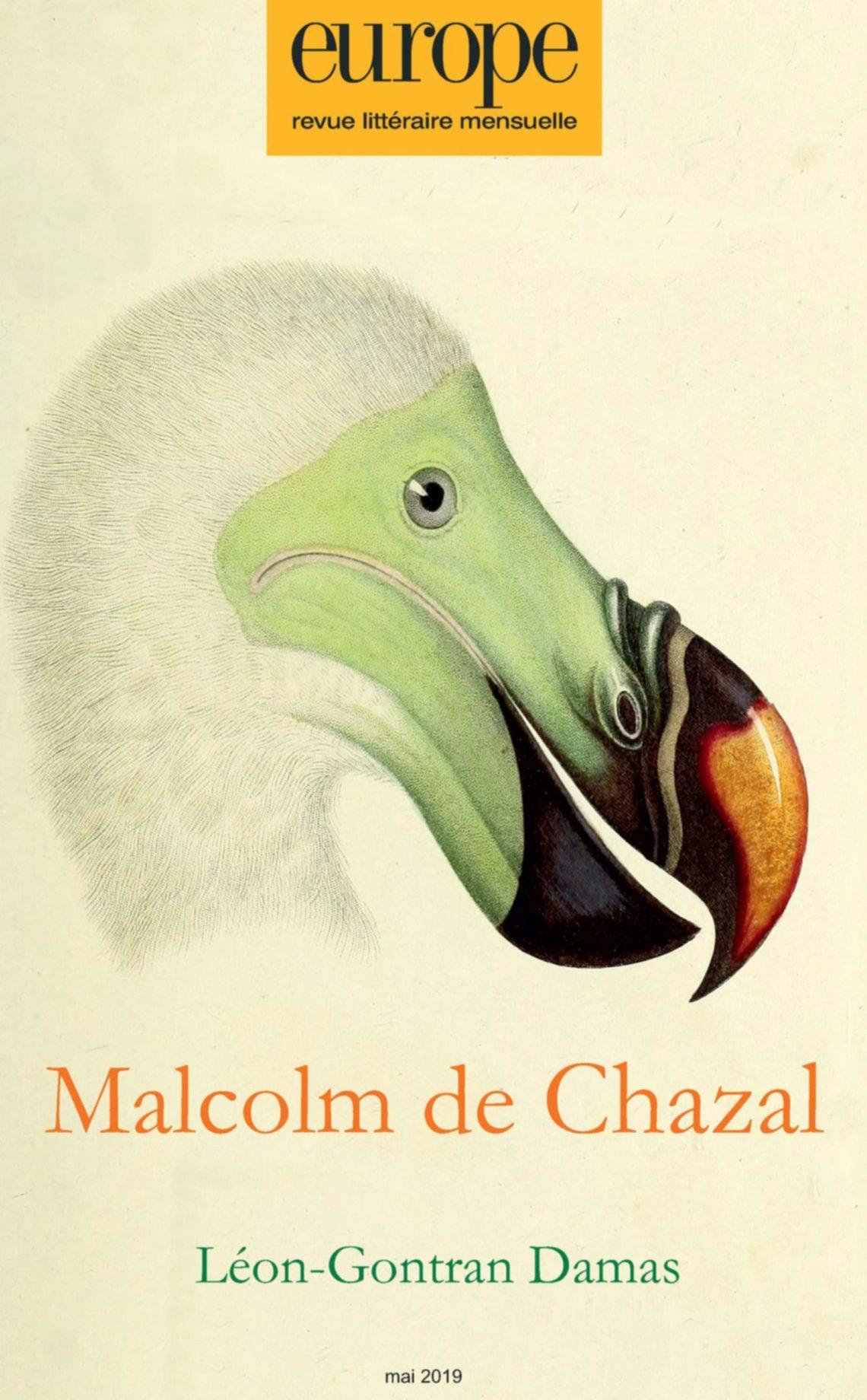 Europe, n° 1081, mai 2019 : Malcolm de Chazal ; Léon-Gontran Damas