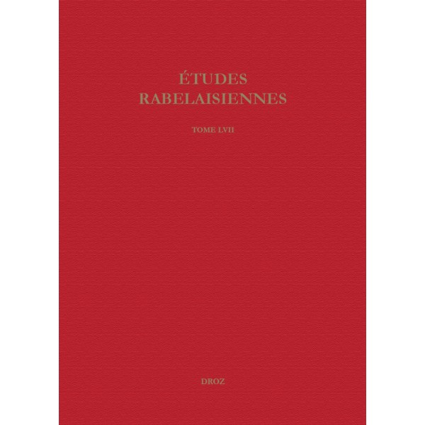 Études rabelaisiennes, Varia, tome LVII