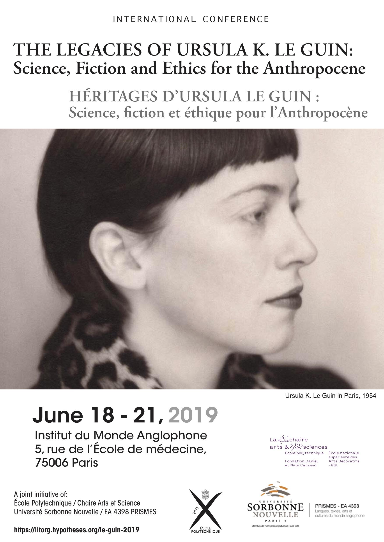 Héritages d'Ursula Le Guin. Science, fiction et éthique pour l'Anthropocène (Paris)