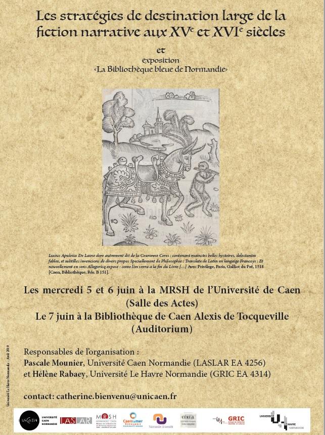 Les Stratégies de destination large de la fiction aux XVe et XVIe s. (Caen)