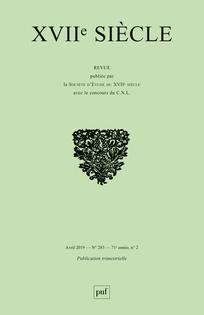 M. Rosellini, S. Zékian (dir.), XVIIe siècle, n° 283: « Un XVIIe siècle hors Panthéon. Les libertins au XIXesiècle »