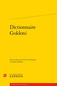 Dictionnaire Goldoni (L. Comparini, A. Fabiano, dir.)