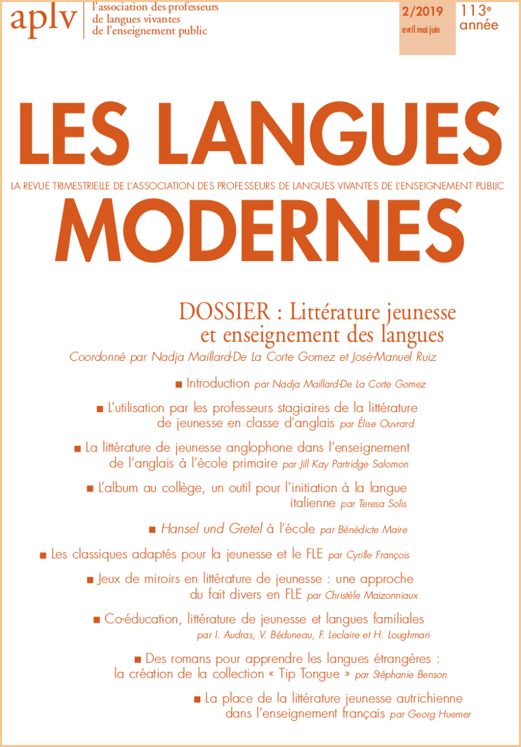 Les Langues Modernes, 2019-2: