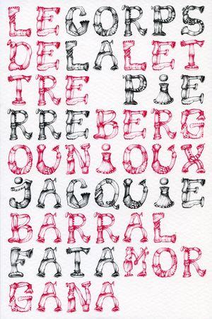 P. Bergounioux, J. Barral, Le corps de la lettre