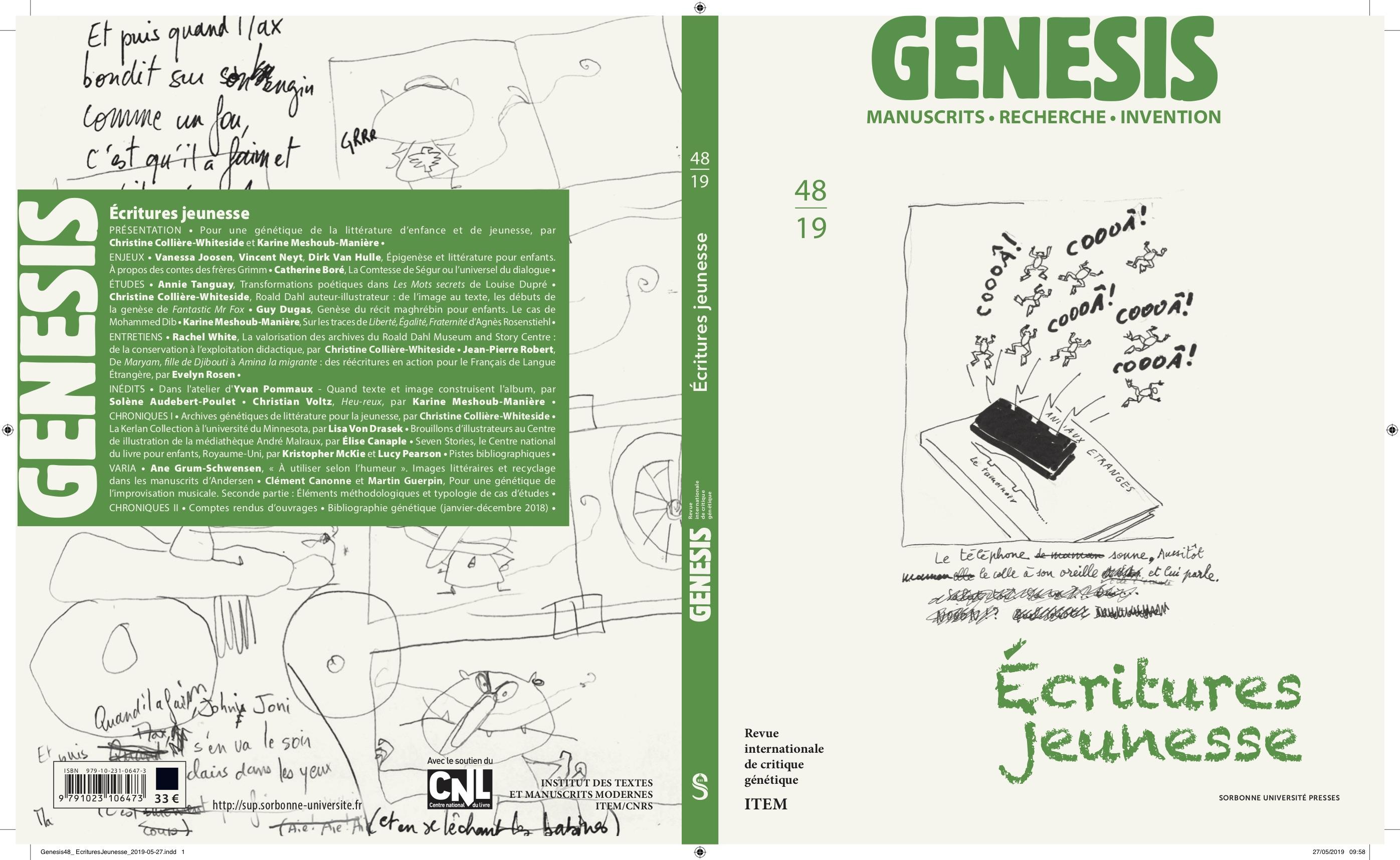Présentation du n° 48 de Genesis