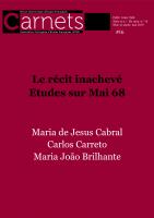 <em>Carnets, Revue électronique d'études françaises</em>, 16, 2019: