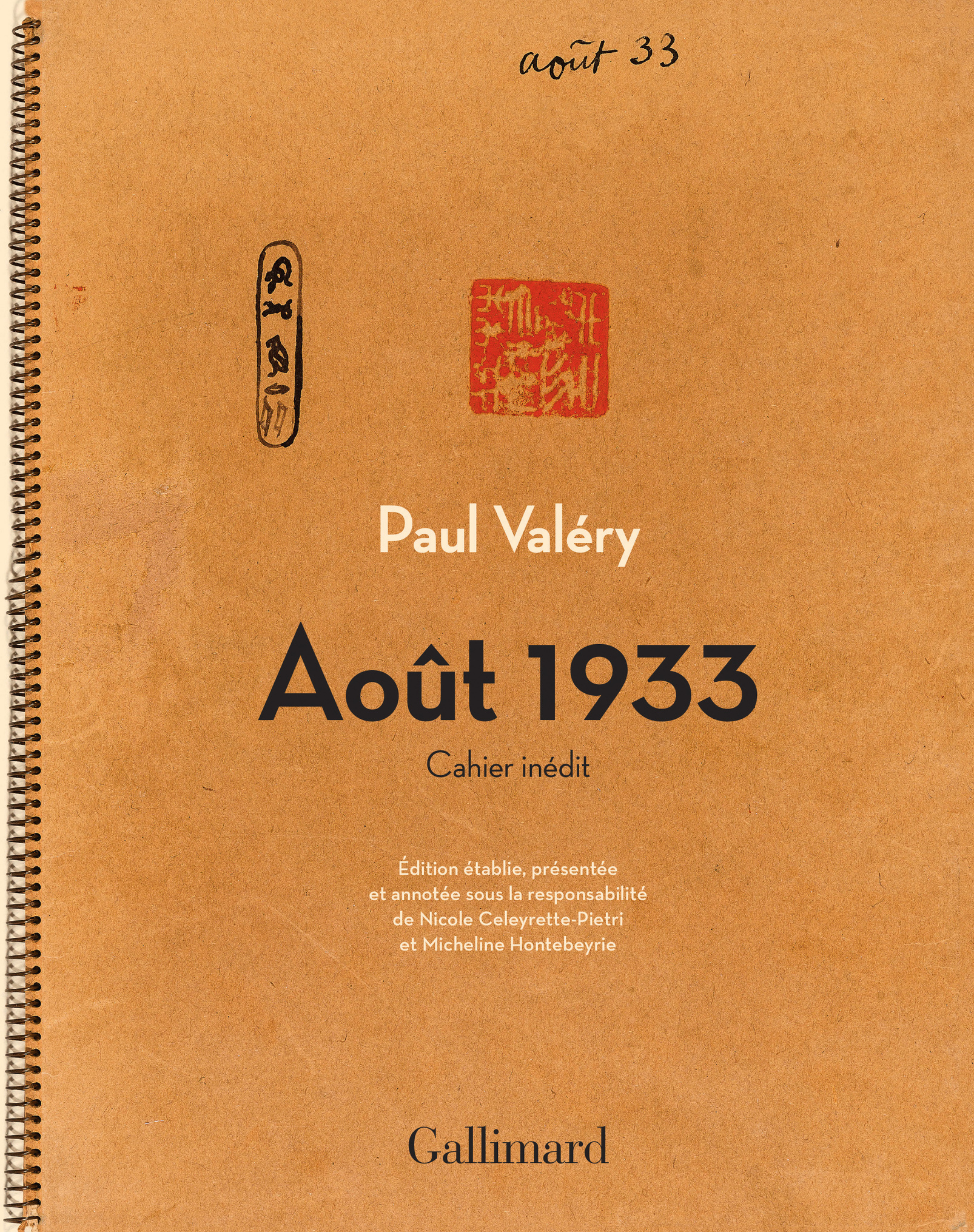 Valéry, août 1933