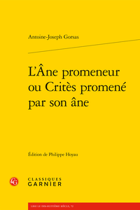 Antoine-Joseph Gorsas, L'Âne promeneur ou Critès promené par son âne